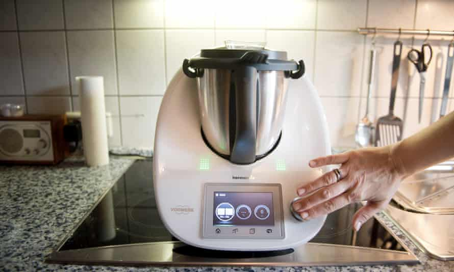 A Thermomix being used in a kitchen.