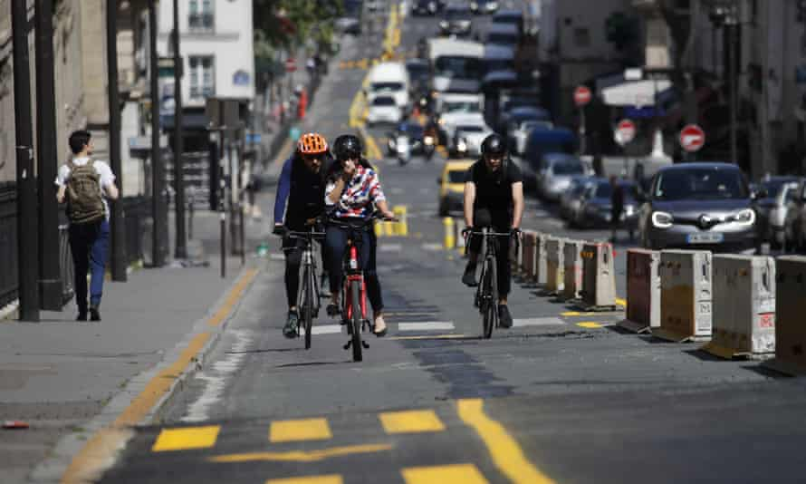 Paris was one of the cities to reallocate space for sustainable transport during the coronavirus lockdown.