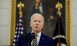 Biden praised the government's vaccine response at the White House on Friday.