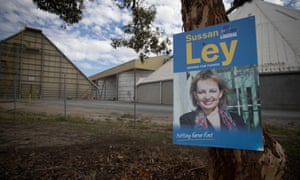 Corflutes for Liberal MP Sussan Ley in Deniliquin, NSW. Ley holds the seat of Farrer on a 20% margin but she is facing a challenge in the 2019 Australian federal election campaign.