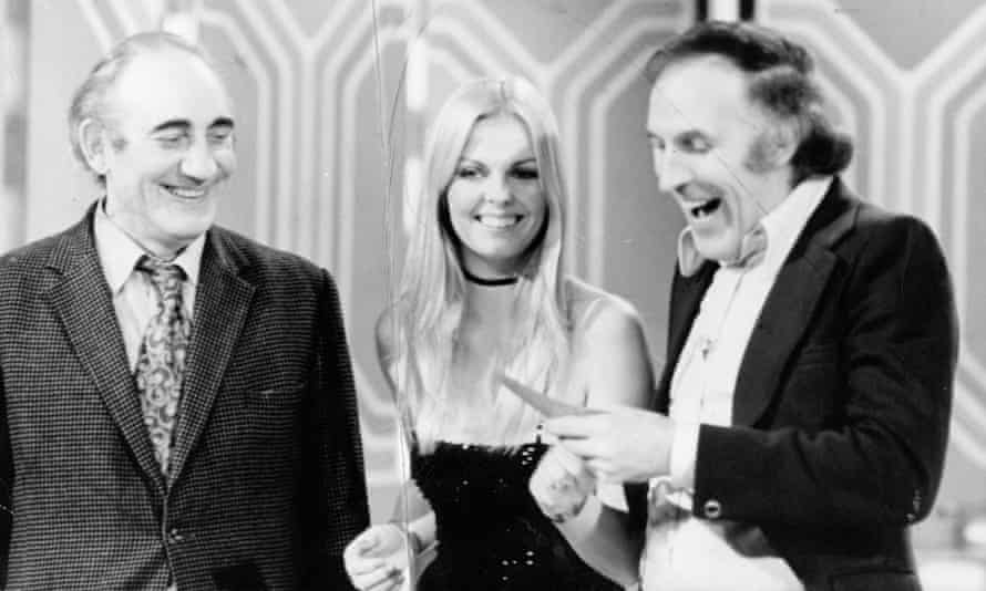 Bruce Forsyth, right, and Anthea Redfern, his assistant and later his second wife, presenting The Generation Game in the 1970s.