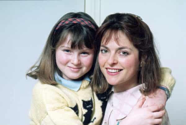 Sophie Ellis-Bextor with her mother, Janet Ellis, in 1989