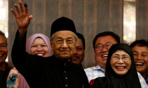 Malaysia's new prime minister Mahathir Mohamad.