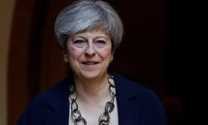 Theresa May leaving church on Sunday