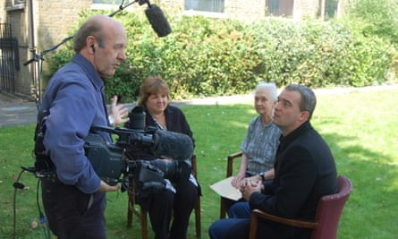 Nicola Seyd being interviewed with Che Guevara's daughter, Aleida, second left