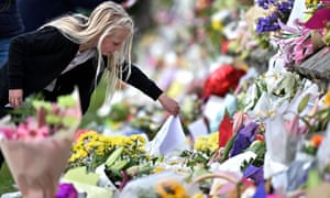 Tributes to victims in Christchurch on Saturday.