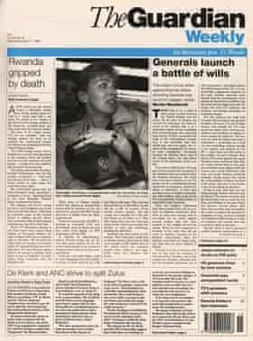 Guardian Weekly, 17 April 1994. Rwanda (click to enlarge)