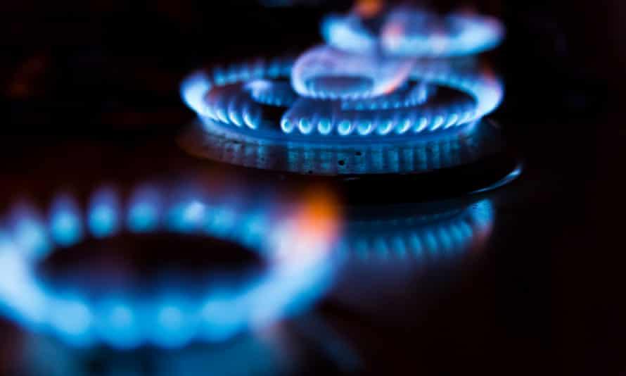 Gas rings burning