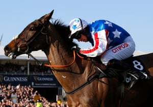 Special Tiara ridden by Noel Fehily pulls away from the last fence .