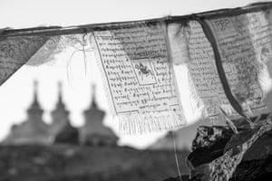 LADAKH STUPAS and prayer flags