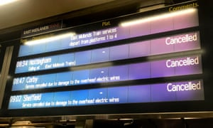 The information board at London St Pancras did not make happy reading this morning.