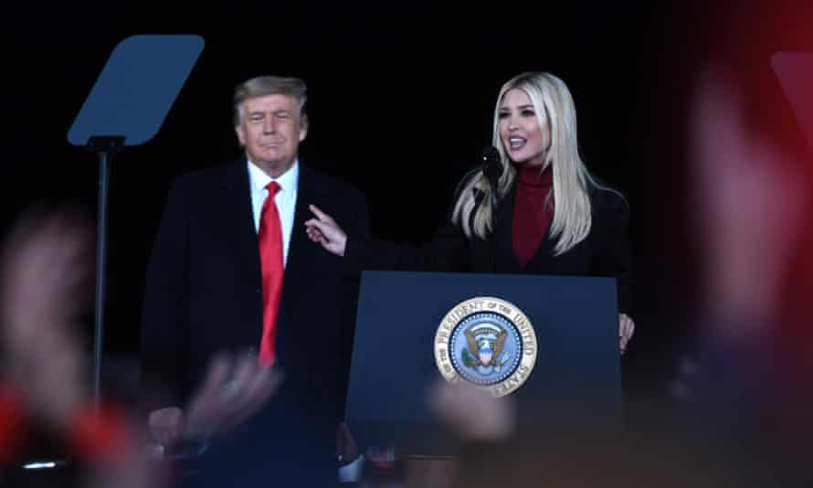 Ivanka Trump, speaks at a Republican National Committee Victory Rally