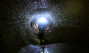 Victorian sewer beneath Brighton