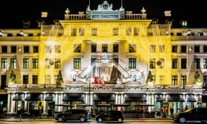 Christmas decorations at the Hotel D'Angleterre, Copenhagen, Denmark