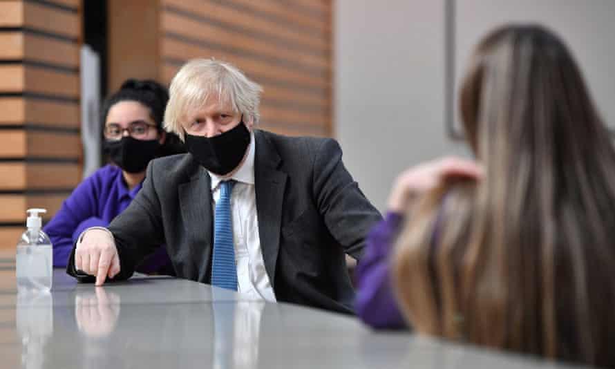 Boris Johnson visits Accrington academy in Lancashire on Thursday