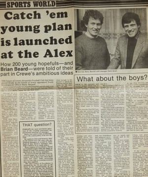 How the Crewe Chronicle reported the hiring of Barry Bennell by the club.