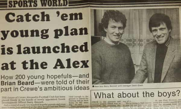 The Crewe Chronicle marks the appointment of Barry Bennell as youth development officer.