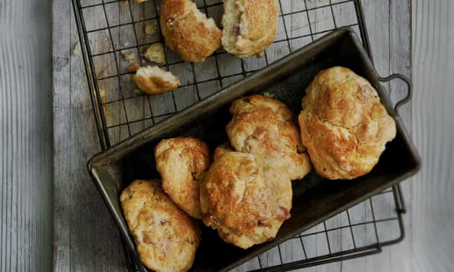 Maple syrup and smoked bacon scones