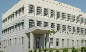 The US embassy in Accra, Ghana