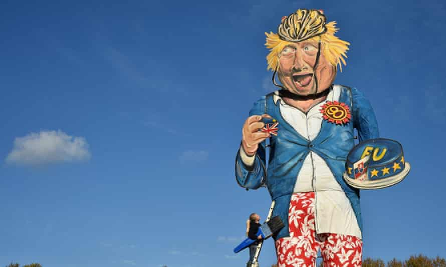 Andrea Deans effigy of Boris Johnson with c