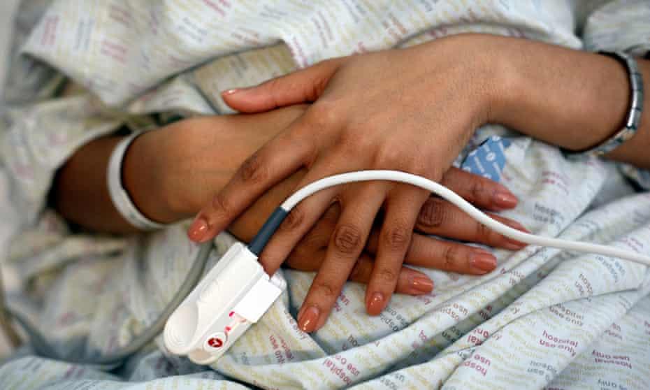 A hospital patient