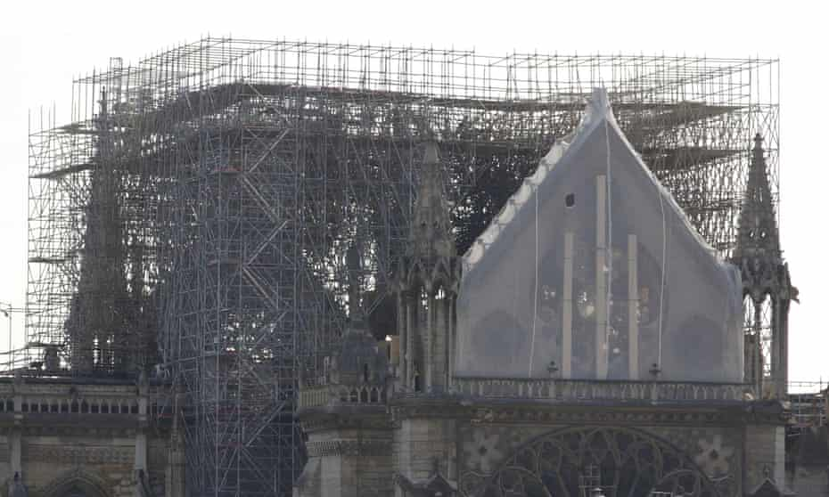 Aftermath of the fire at Notre Dame Cathedral