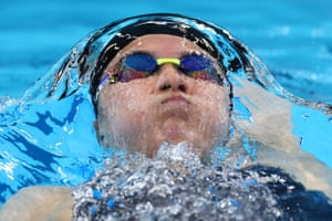 Yui Ohashi of Japan in action during her women's 400m individual medley heat.