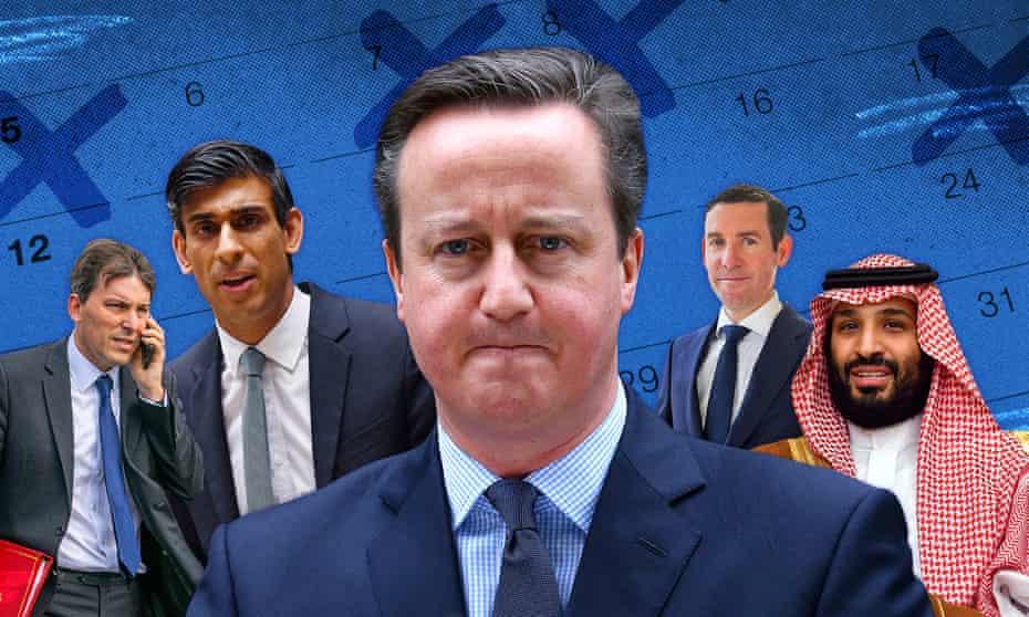 John Glen, Rishi Sunak, David Cameron, Lex Greensill and Mohammed bin Salman