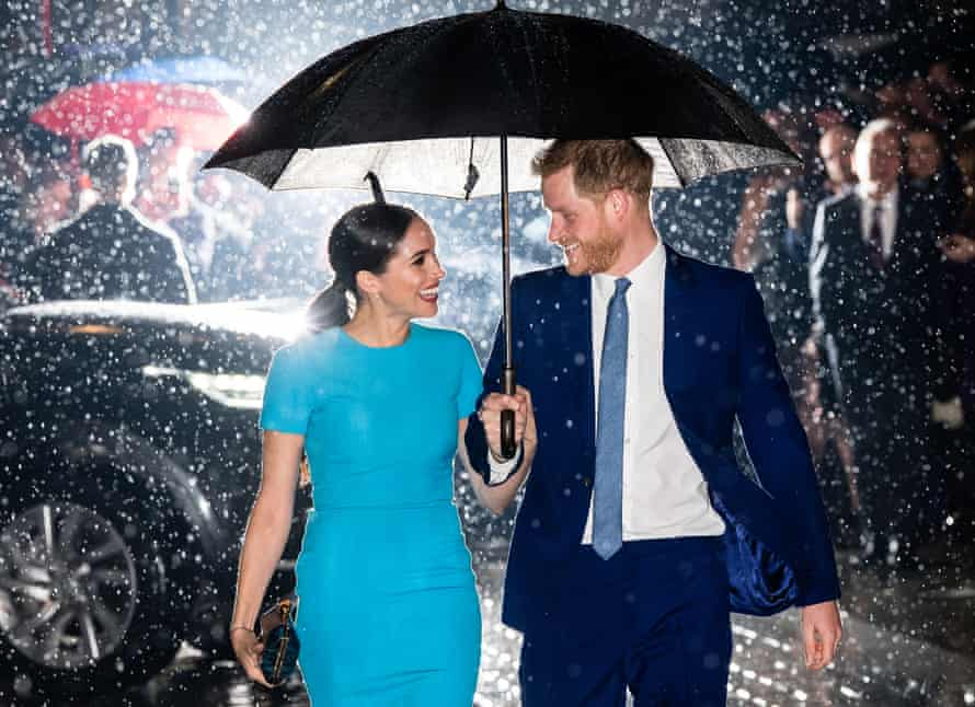 The Duke and Duchess of Sussex arrive at London's Mansion House for the Endeavour Fund awards.