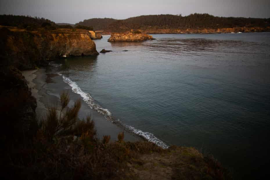The coastline near Mendocino, California. The town relies on shallow wells for water that are running low amid a drought.