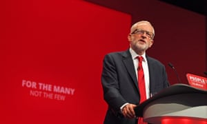 Jeremy Corbyn at the Labour party conference