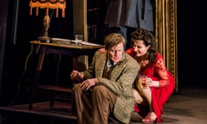 Charles Edwards and Kate Fleetwood in Absolute Hell by Rodney Ackland at the Lyttelton, National Theatre. Directed by Joe Hill-Gibbins.