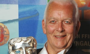 Andrew Davies in 2007, winning the Bafta Cymru Special Award for outstanding contribution to film and television.