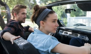 ryan gosling and rooney mara in a convertible car in song to song