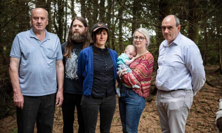 Save Leitrim members Jim McCaffrey, Willie Stewart, Natalia Beylis, Edwina Guckian and baby Paudi, Brian Smyth