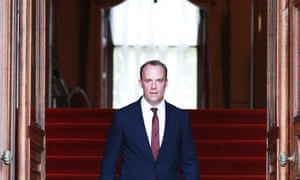 Dominic Raab at the Foreign Office.