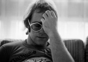 Elton John at home Windsor UK 1972