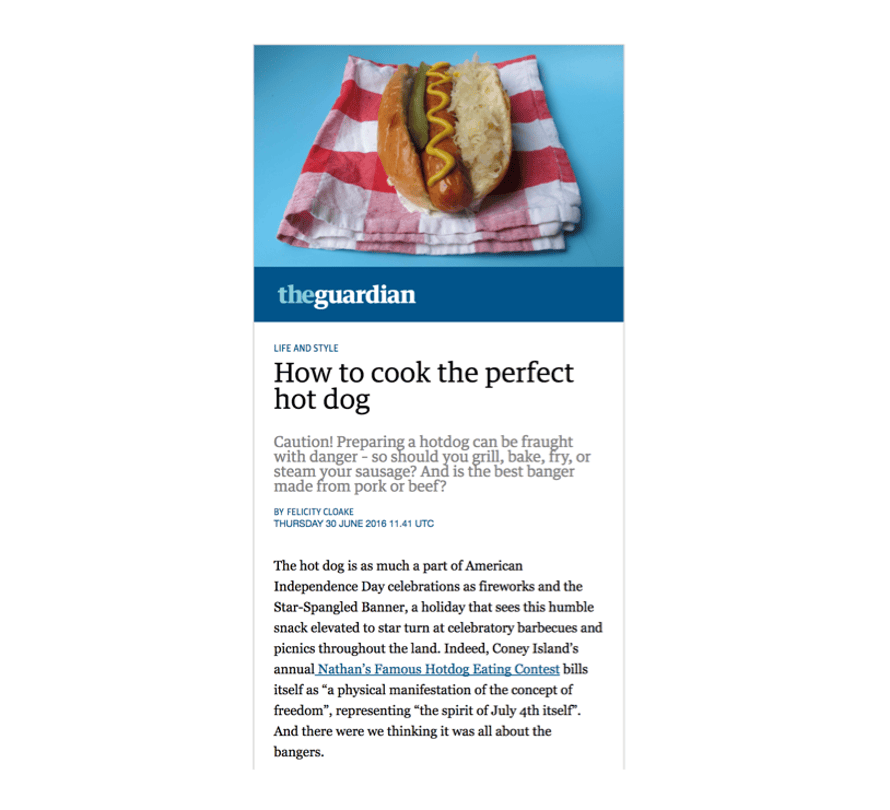 Screenshot of Facebook Instant Article preview