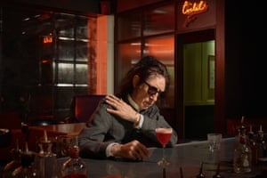 Performance poet John Cooper Clarke photographed at Mark's Bar, HIX Soho, London