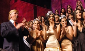 Donald Trump attends The Miss Universe Guide to Beauty book launch at Trump Tower, New York, in 2006.