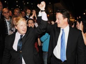 David Cameron congratulates Boris Johnson