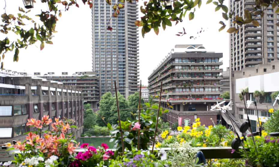 View from Gilbert House, the Barbican, London