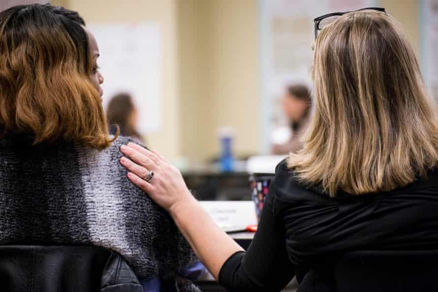 Women attend the Emerge Virginia program.