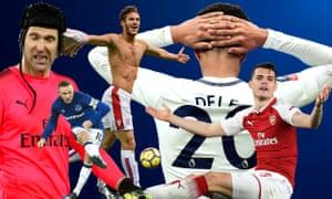 The incompetents: Petr Cech, Wayne Rooney, Ramadan Sobhi, Dele Alli, Granit Xhaka.