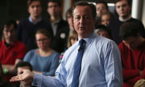 David Cameron gave his interview after speaking to students at Exeter University.