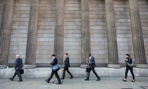 Financial workers in the City of London