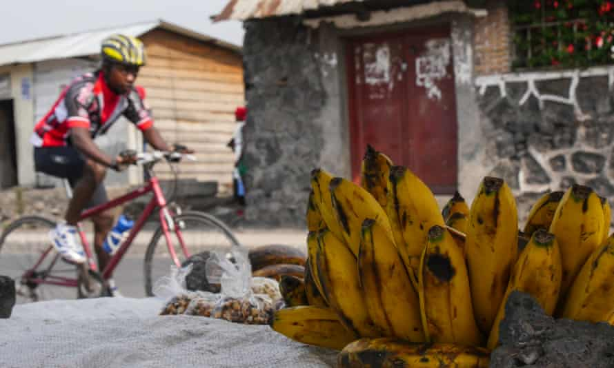A member of Goma Cycling Club whizzes past.