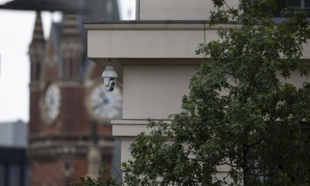 A CCTV camera in Pancras Square near King's Cross station.