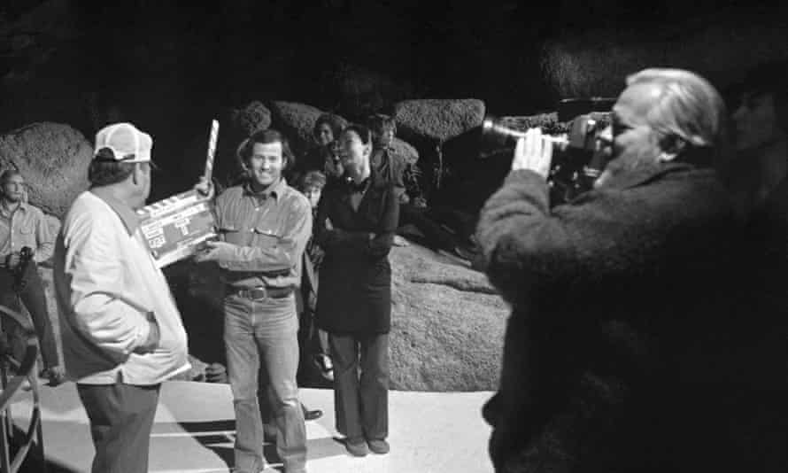 Orson Welles (right) in The Other Side of the Wind