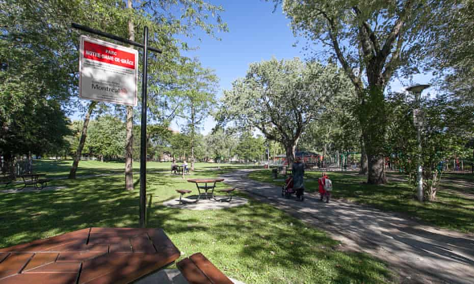 The regenerated NDG (or Notre Dame de Grace) park in Monkland Village, Montreal